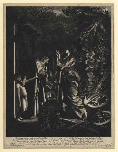 hendrik goudt, 'The Mocking of Ceres (after ADAM ELSHEIMER)', 1610