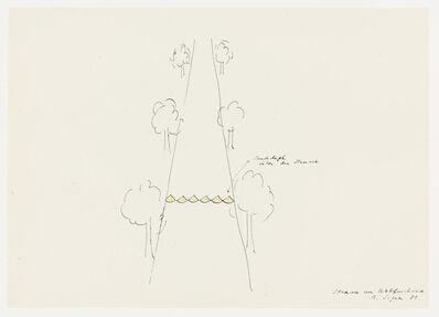 Roman Signer, 'Strasse zur Wolfsschanze', 1981