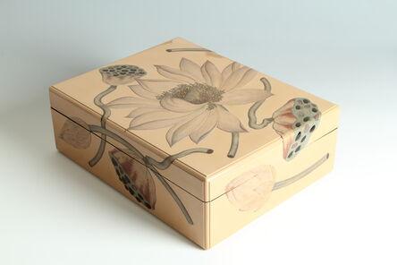 Unknown Artist, 'Lotus Paper Box (T-3923)', Showa era (1926-1989) 1930s