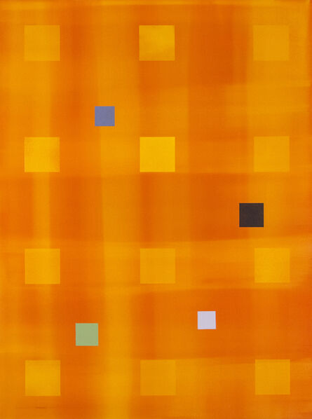 Milly Ristvedt, 'Yellow Orange Grid - bright and colourful abstracted grid acrylic painting', 2005