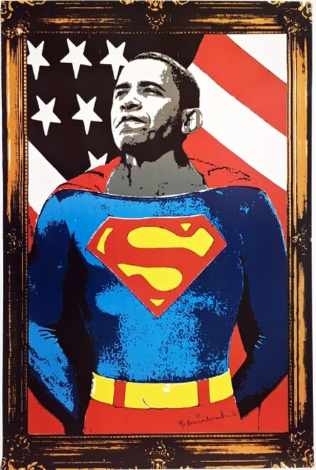 Mr. Brainwash, 'Obama Superman', 2009