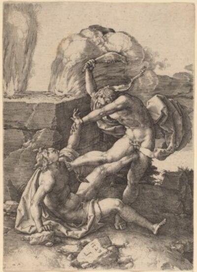 Lucas van Leyden, 'Cain Killing Abel', 1529