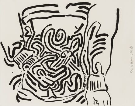 Keith Haring, 'One Plate, from Bad Boys (Littmann p.58)', 1986