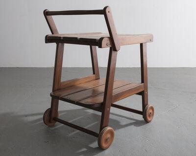 "Sergio Rodrigues, '""Tajá"" tea cart in solid wood designed by Sergio Rodrigues, Brazil, circa 1978.', 1978"