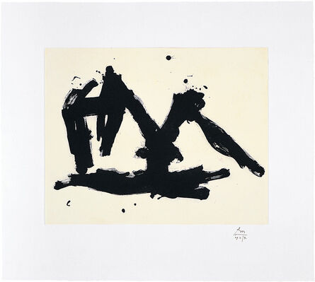 Robert Motherwell, 'Stephen's Iron Crown Etched', 1982