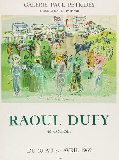 Raoul Dufy, '40 Courses, Galerie Paul Pétridès', 1969