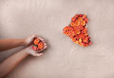 Sama Alshaibi, 'Sketch 17 (orange flowers)', 2010