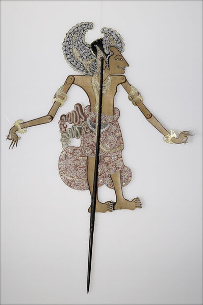 Unknown Artist, 'Shadow puppet representing Ardjoena (Ardjuna) the most beautiful of the Pendawas', Bought from I Wara, Negara, Bali, 1938. Based on a model from Klungkung, Bali