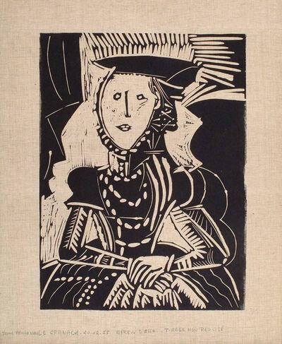 Pablo Picasso, 'Portrait de jeune Fille, d'après Cranach le Jeune. I', 1958