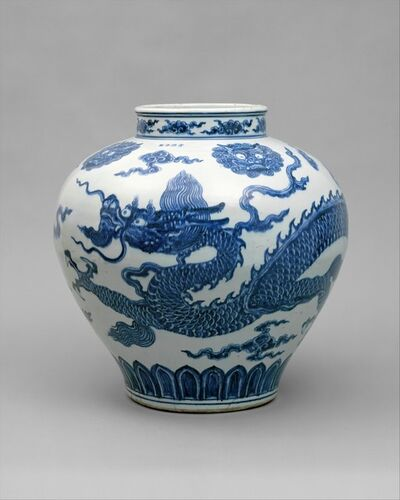 Unknown Chinese, 'Jar with Dragon', early 15th century