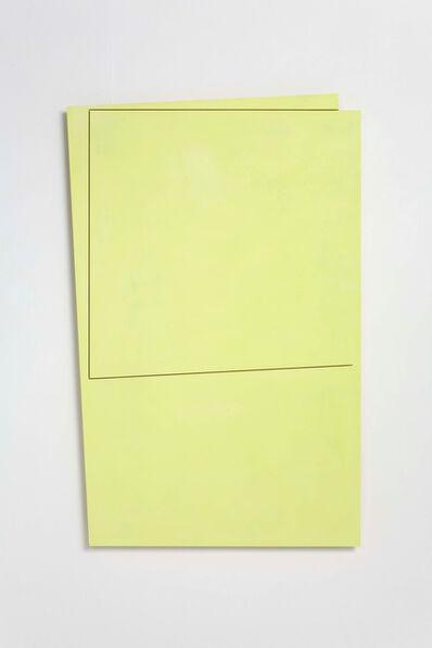John Carter, 'unfolding planes II (yellow)', 2008