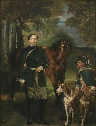 Théodore Chassériau, 'Portrait of Comte Oscar de Ranchicourt Leaving for the Hunt', 1854
