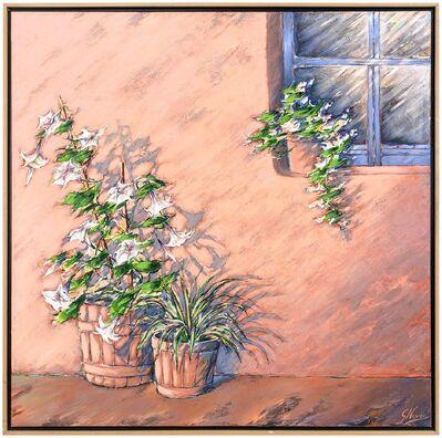 Gustavo Novoa, 'Spoken Shadows, Large Scale Modernist Southwest Adobe Painting', Late 20th Century