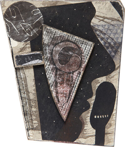 Ray Johnson, 'Dotted Andy with Snail', 1990