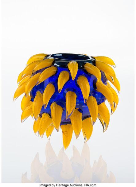 Dale Chihuly, 'Ultramarine Venetian Vase with Banana Prunts', 1989