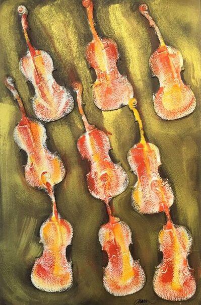 Arman, 'Empreintes de violon orange', ca. 2004