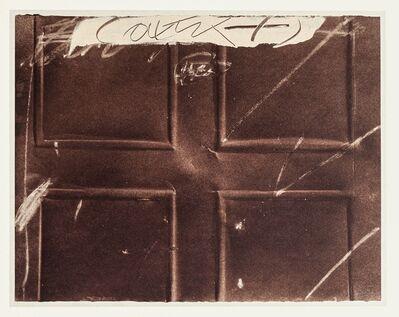 Antoni Tàpies, 'Embossed Cross', 1982