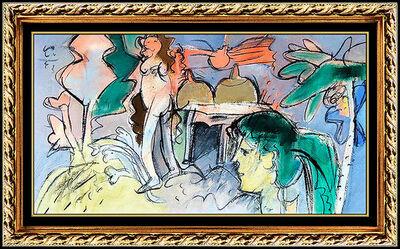 Roger Von Gunten, 'Roger Von Gunten Original OIL PAINTING on Canvas Large Nude Portrait Signed Art', 1950-1969