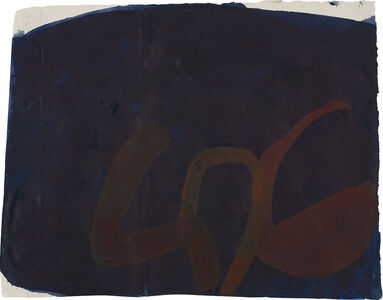 Suzan Frecon, 'Untitled (Indigo with Strokes)', circa 2010