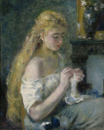 Pierre-Auguste Renoir, 'Woman Crocheting', ca. 1875