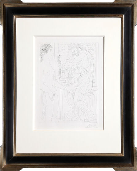 Pablo Picasso, 'Nude Model and Sculptures from the Vollard Suite (Bloch 185)', 1933