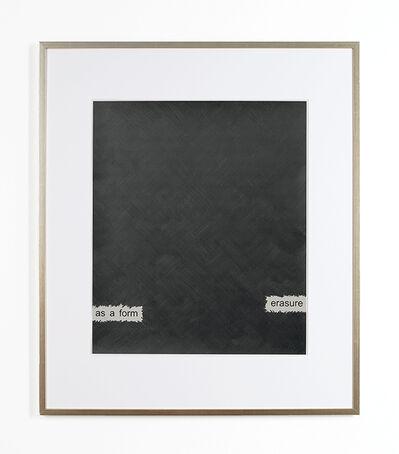 Roman Pfeffer, 'Rauschenberg's Willem de Kooning - Erasure as a form', 2008