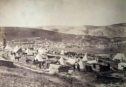 Roger Fenton, 'Camp of the 5th Dragoon Guards, looking towards Kadikoi.', 1855