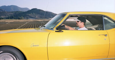 Andrew Bush, 'Man traveling southeast on U.S. Route 101 at approximately 71 mph somewhere around Camarillo, California, on a summer evening in 1994', 1994
