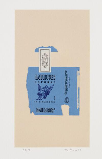 Robert Motherwell, 'Gauloises Bleues', 1968