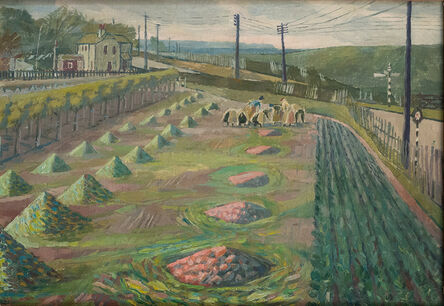 Evelyn Dunbar, 'Land Workers at Strood', ca. 1938