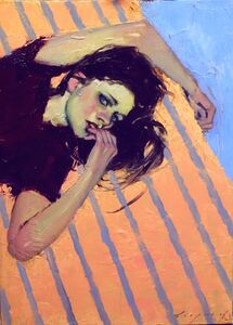 Malcolm T. Liepke, 'Striped Bed', 2018