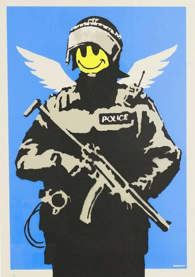 Banksy, 'Flying Copper - Unsigned', 2003