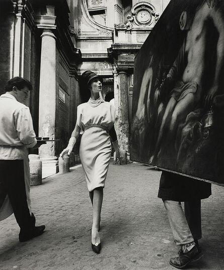 William Klein, 'Simone + Painting + Coffee, Rome', 1960