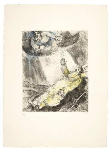 Marc Chagall, 'Mort de Moïse (Moses dies in sight of the promised land), from La Bible (Vollard 239; Cramer bk. 30)'