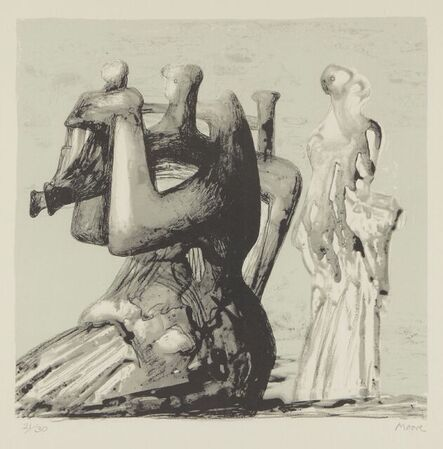 Henry Moore, 'Mother and Child with Light Background [CGM 435]', 1976