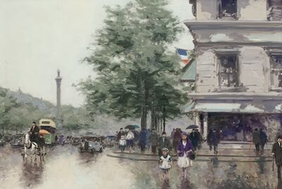 Andre Gisson, 'Untitled (Rainy Street Scene in Paris)', ca. 1950