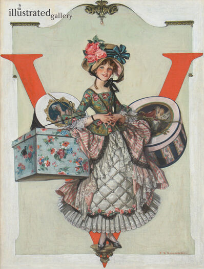 Francis Xavier Leyendecker, 'Millinery Number, Vogue Magazine Cover', 1913