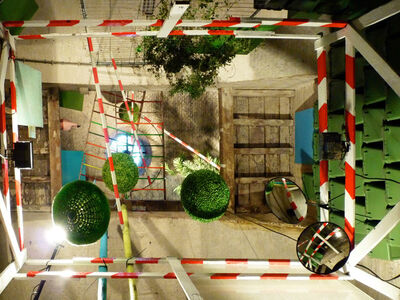Tinka Pittoors, 'In situ installation – Fort Art – 3D-Drawing', 2012
