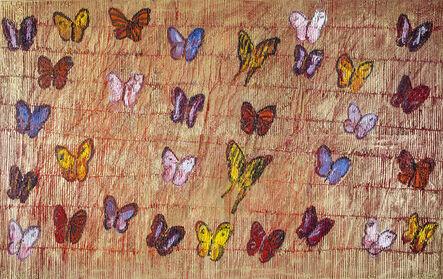 Hunt Slonem, 'Red Butterflies', 2015