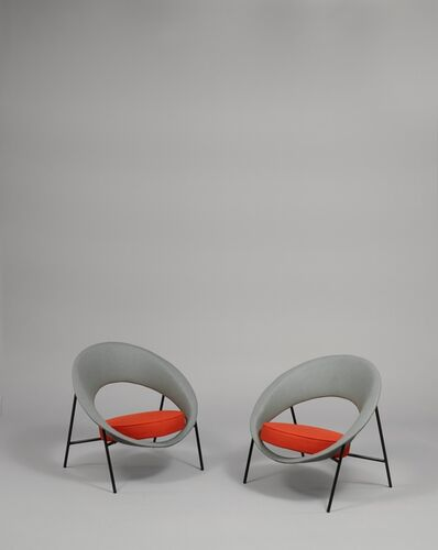 Geneviève Dangles and Christian Defrance, 'Pair of armchairs 44 - Saturne', 1957