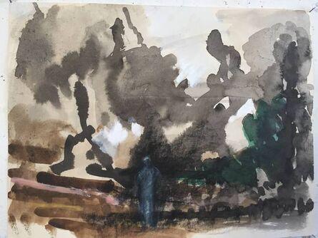 Donald Beal, 'Blue Figure in Landscape', 2020