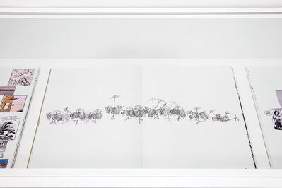 Christian Marclay, 'View at graphic score TO BE CONTINUED', 2016