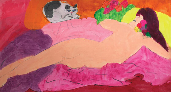 Walasse Ting 丁雄泉, 'Beauty in Bed', ca. 1990