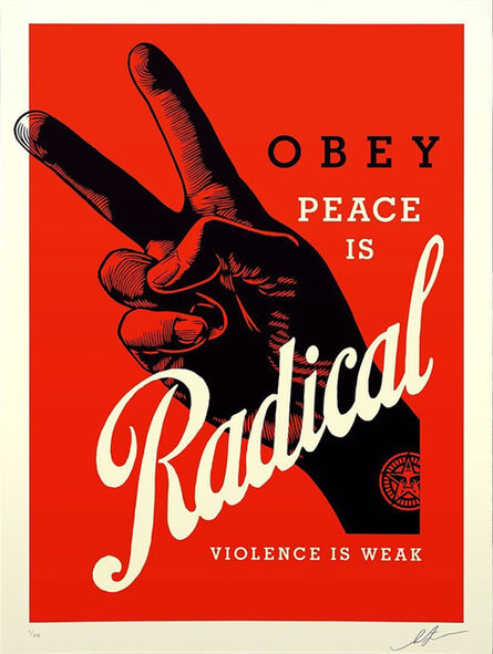 Shepard Fairey, 'Radical Peace - Red Edition', 2021
