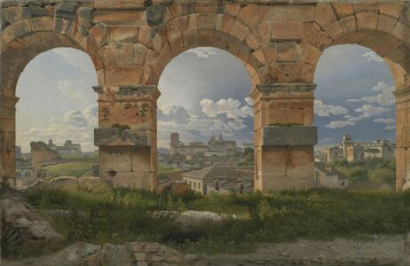 Christoffer Wilhelm Eckersberg, 'A View through Three Arches of the Third Storey of the Colosseum', 1815