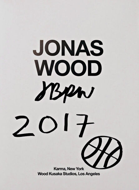 Jonas Wood, 'Original Basketball Drawing (Hand Signed)', 2017