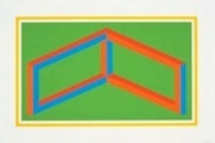 Sol LeWitt, 'Isometric Figures in Five and Six Colors Series (yellow border)', 2002