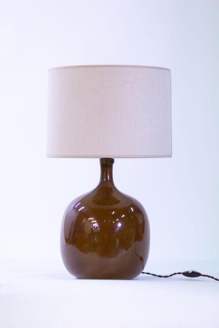 Jacques & Dani Ruelland, 'Enameled ceramic lamp', années 1960