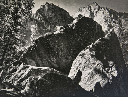 Ansel Adams, 'Peaks and Talus, Kings River Canyon', 1939