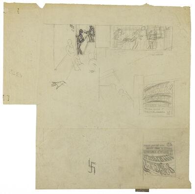 "Paul Cadmus, 'Various Studies for ""Greenwich Village""', ca. 1934"
